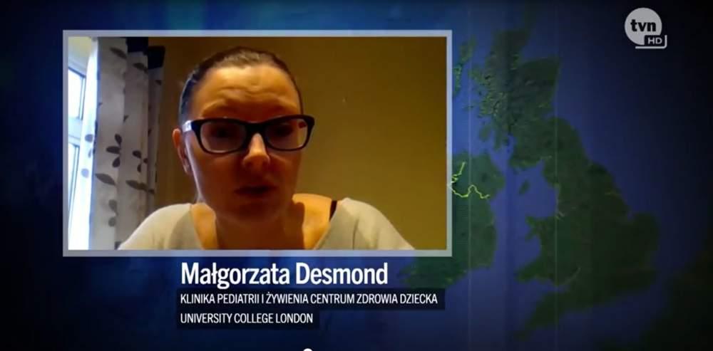 dzieci wegańskie Małgorzata Desmond Fakty TVN