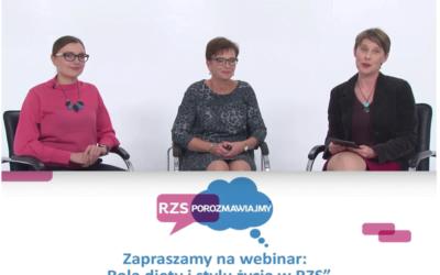 Webinar 'Rola diety i stylu życia w RZS'